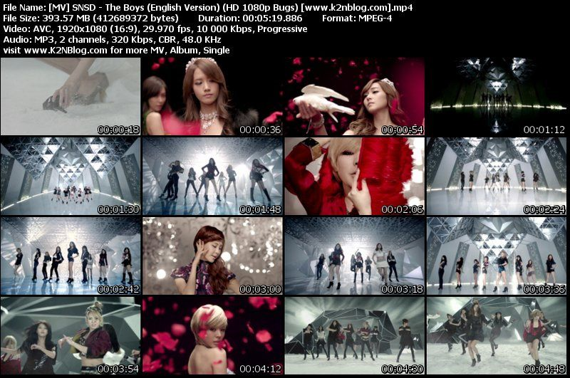 [MV] SNSD   The Boys (English Version) (HD 1080p Bugs)